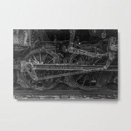 Driving Wheels Metal Print