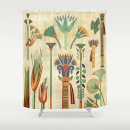 Egyptian paper papyrus hieroglyphs Shower Curtain