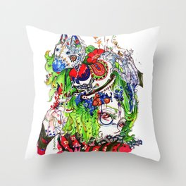 The rocking horse Throw Pillow