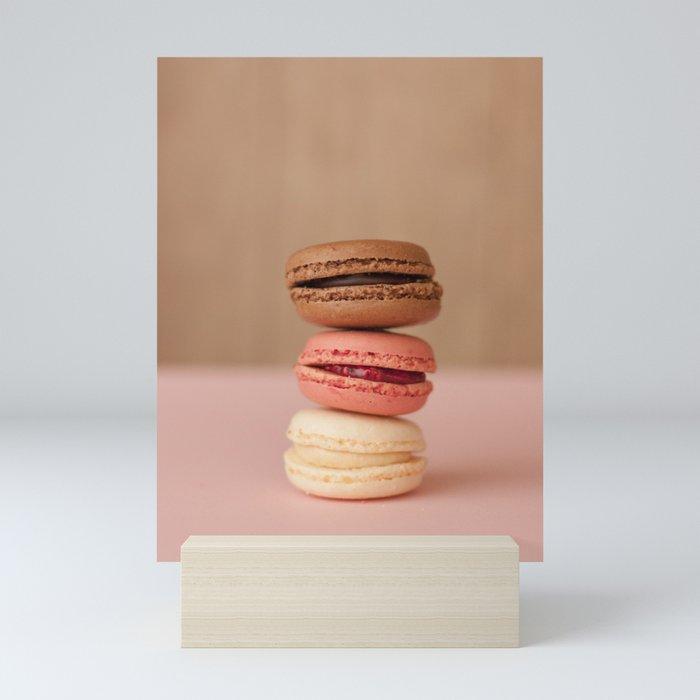 Pink Paris Macaroons Mini Art Print