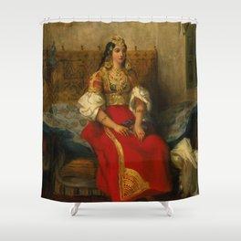 """Eugène Delacroix """"Juive de Tanger en costume d'apparat"""" Shower Curtain"""