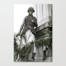 Guardian with Garland Canvas Print