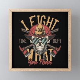 19 Firefighter_10 Framed Mini Art Print