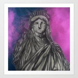 LADY LIBERTY -   LOVE! LIBERTY! PRIDE! Art Print