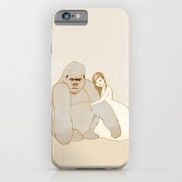 Gorilla and Girl iPhone Case