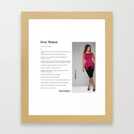 Dear Woman - Empowerment  Framed Art Print