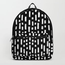 linocut dots and dashed stripes spots minimalist decor gifts hipster friendly Backpack