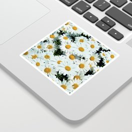 Daisies explode into flower Sticker