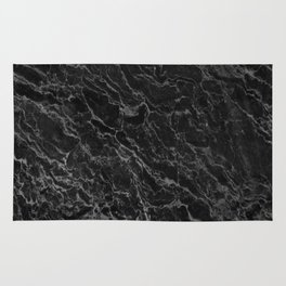 BLACK MARBLE - TEXTURE - MATERIAL - SURFACE Rug