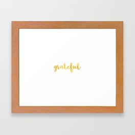 Grateful - Gold Framed Art Print