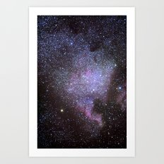 North American Nebulae. The Milky way. North America Nebula Art Print