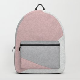Pink, gray, white, pechvork. Backpack