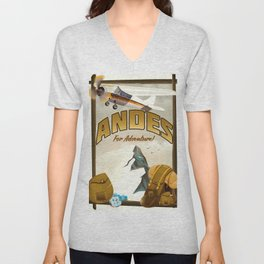 "Andes ""For Adventure!"", Unisex V-Neck"