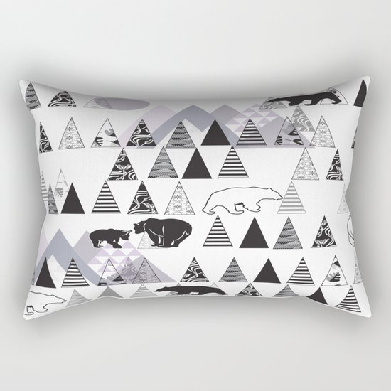 Mountain Bears No. 1 Rectangular Pillow