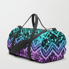 Unicorn Glitter Chevron #4 #shiny #decor #art #society6 Duffle Bag