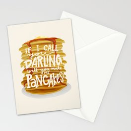 Pancakes. Stationery Cards
