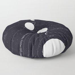 Stellarum Ordo Solaris: A map of our Solar system Floor Pillow
