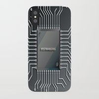 computer iPhone & iPod Cases featuring Computer Chip by Tami Cudahy