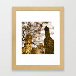 seeing through the trees, clouds ahead. Framed Art Print