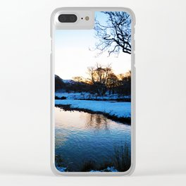 Blarmacfoldach, Scotland in the snow Clear iPhone Case
