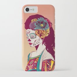 Mexican Skull Lady iPhone Case
