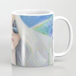 Woman in Tropical Forest Coffee Mug
