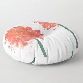2 abstract geranium flowers Floor Pillow