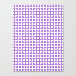 White and Lavender Violet Diamonds Canvas Print