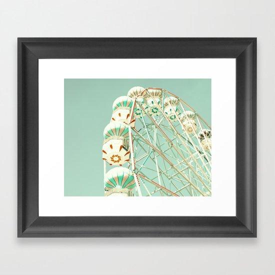 Mint ferris wheel  Framed Art Print
