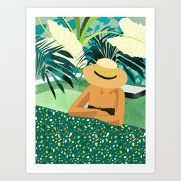 Chill #illustration #travel Art Print