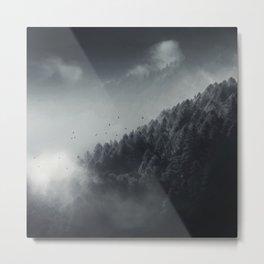 Misty Woodlands Metal Print