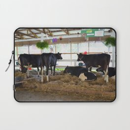 Black and white cow 2 Laptop Sleeve