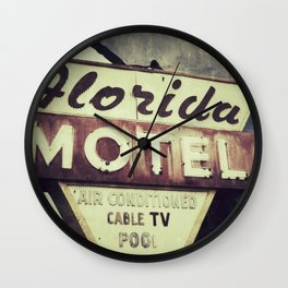 Florida Road Trip Wall Clock