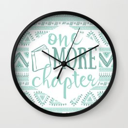 One More Chapter - Tribal  Wall Clock