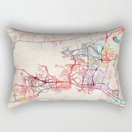 Thousand Oaks map California painting Rectangular Pillow