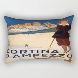 Vintage poster - Cortina d'Amprezzo Rectangular Pillow