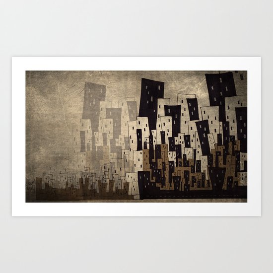 Busy City Where I came from Art Print
