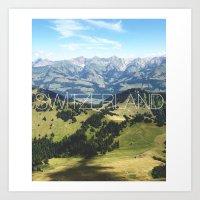 switzerland Art Prints featuring Switzerland by Vania Pietronigro