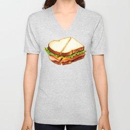 Ham Sandwich Pattern Unisex V-Neck