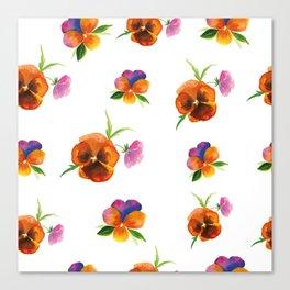 romantic floral summer pattern Canvas Print