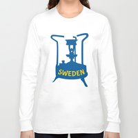 sweden Long Sleeve T-shirts featuring Sweden | Brass Pressure Stove by mailboxdisco