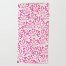 Lotus flower pattern Beach Towel