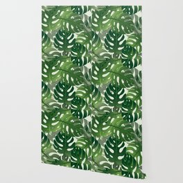 Exotic Palm Leaf Pattern Wallpaper