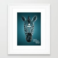 30 seconds to mars Framed Art Prints featuring 30 seconds to mars by Aykut Tanay