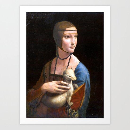 Leonardo da Vinci Lady with an Ermine by pdpress