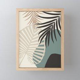 Minimal Tropical Palm Leaf Finesse #2 #tropical #decor #art #society6 Framed Mini Art Print