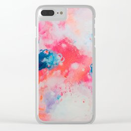 Neon Sky Clear iPhone Case