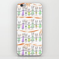 bunnies iPhone & iPod Skins featuring Bunnies by Anchobee