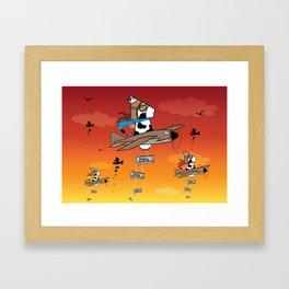 Muso Milkwar Aircraft Framed Art Print