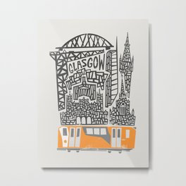 Glasgow Cityscape Metal Print